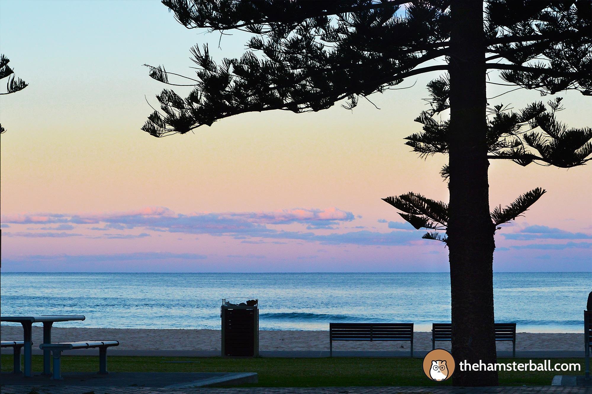 Sunset, Shells Diner, Austinmer Beach, Wollongong, Australia