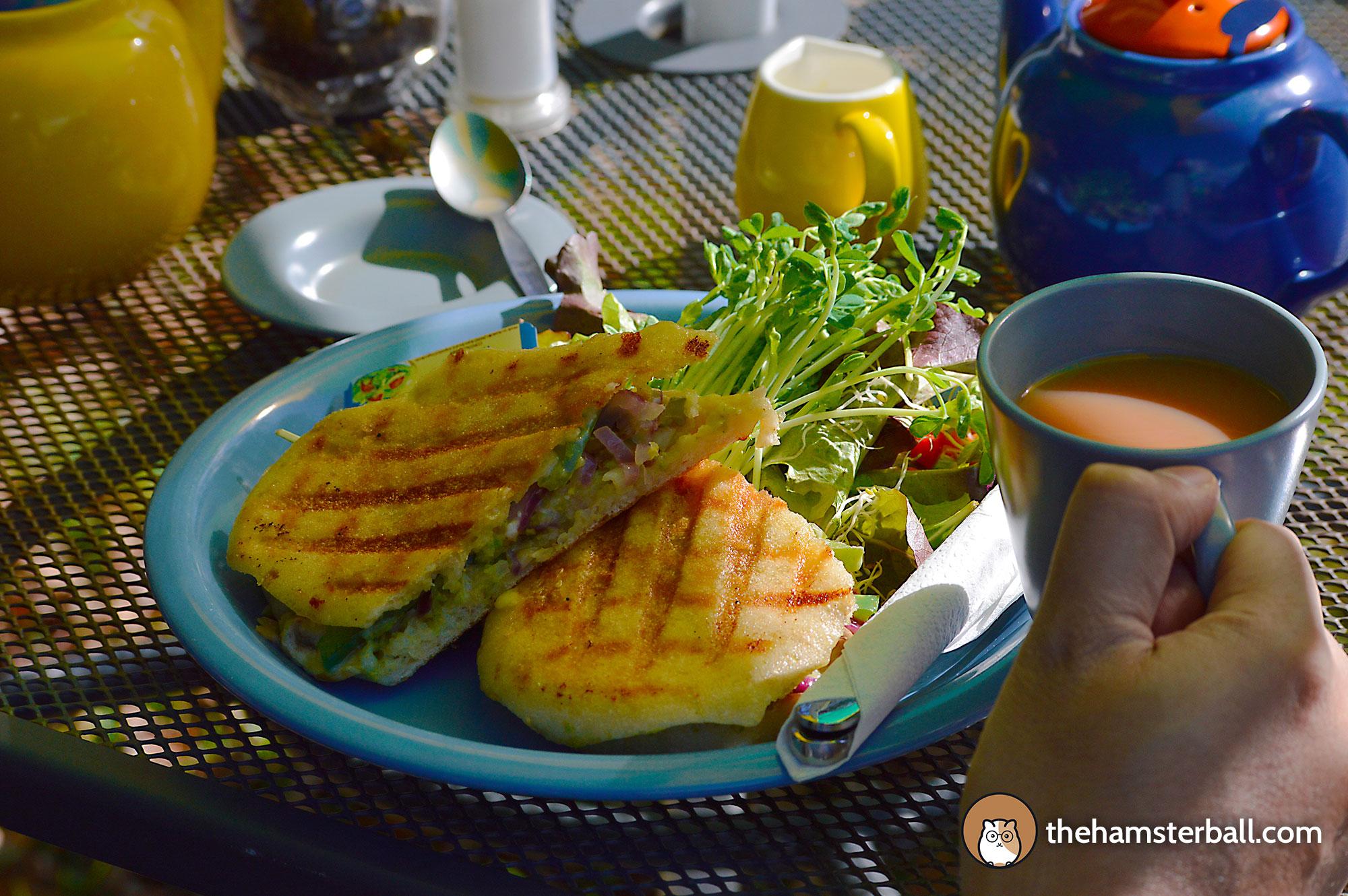 Tutti Fruitti, Tea, Vegetarian Mushroom Sandwich, Bilpin, Blue Mountains, Australia