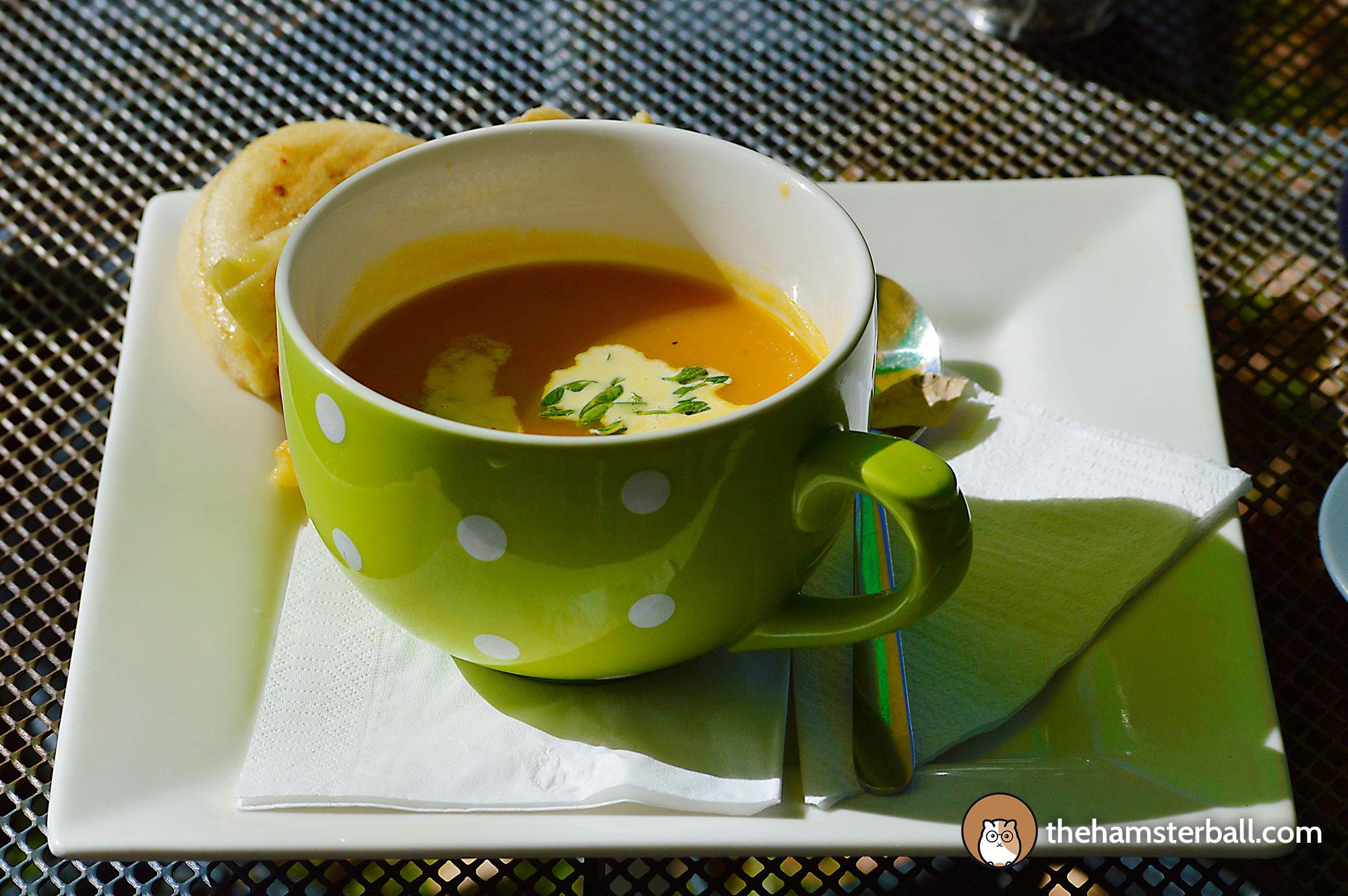 Tutti Fruitti, Tea, Pumpkin Soup, Turkish Bread, Bilpin, Blue Mountains, Australia